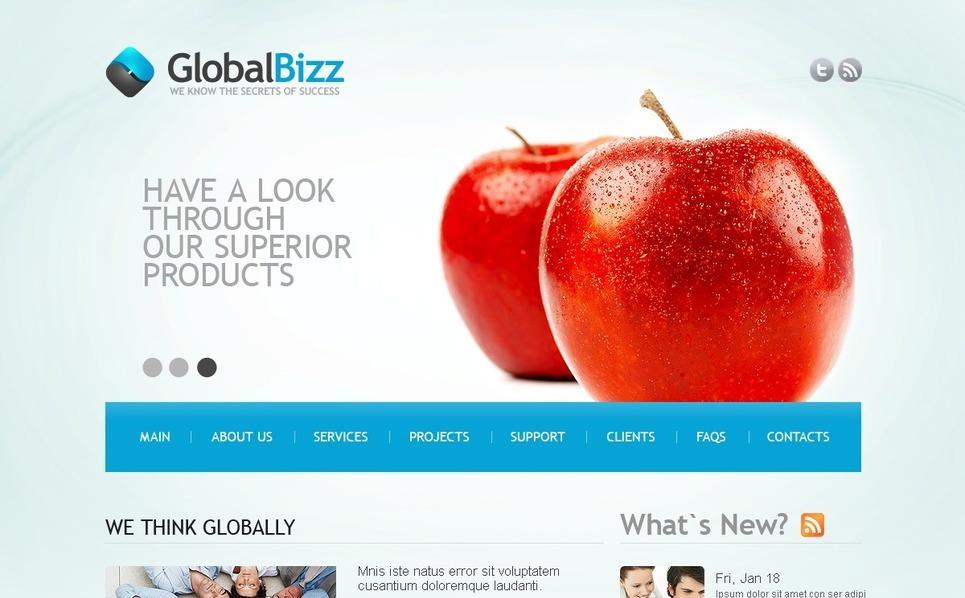 Plantilla PSD #56596 para Sitio de Consultoría New Screenshots BIG