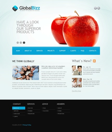 ADOBE Photoshop Template 56596 Home Page Screenshot