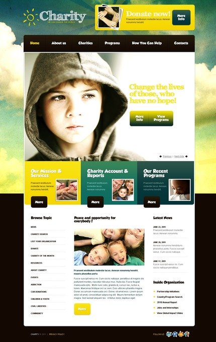 ADOBE Photoshop Template 56598 Home Page Screenshot