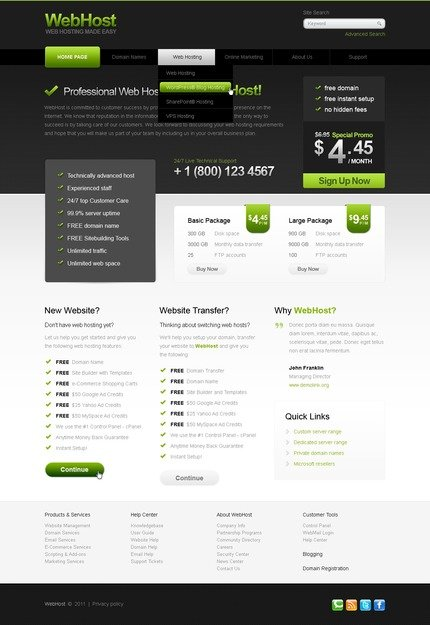 ADOBE Photoshop Template 56599 Home Page Screenshot