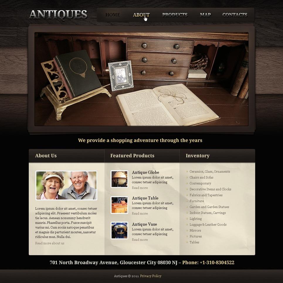 Antique Store PSD Template New Screenshots BIG