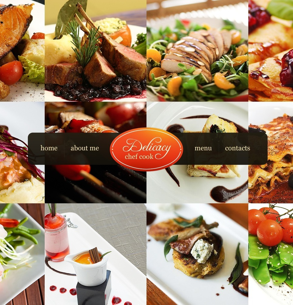 Chef PSD Template New Screenshots BIG