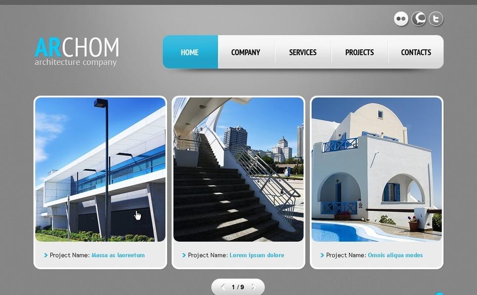 Építészet PSD sablon New Screenshots BIG