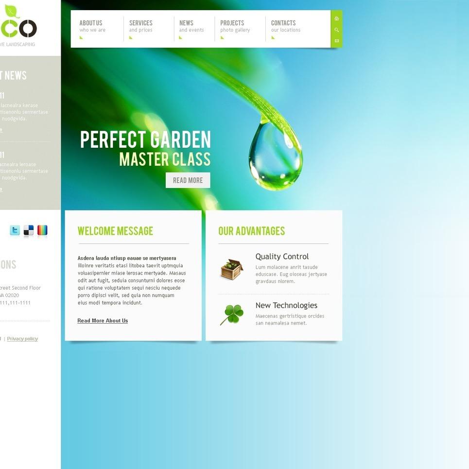 Landscape Design PSD Template New Screenshots BIG