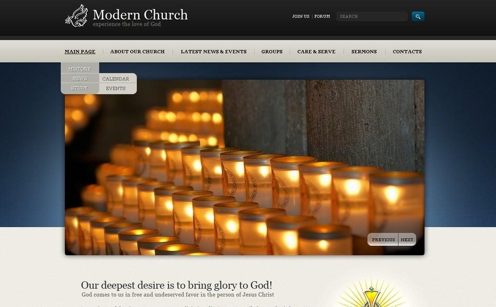 PSD šablona Náboženský New Screenshots BIG