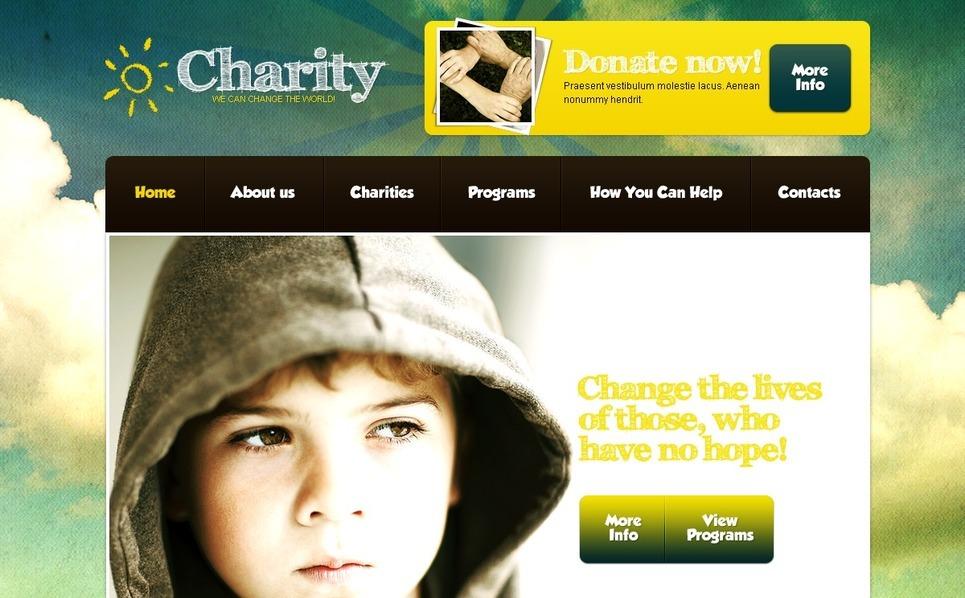 PSD Template over Liefdadigheid van Kinderen New Screenshots BIG