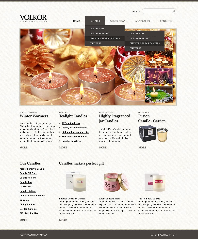 Template Photoshop para Sites de Loja de Presentes №56522