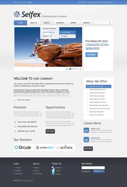 ADOBE Photoshop Template 56605 Home Page Screenshot