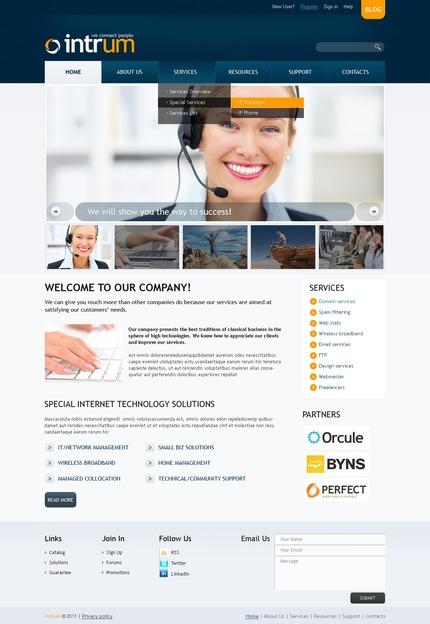 ADOBE Photoshop Template 56609 Home Page Screenshot