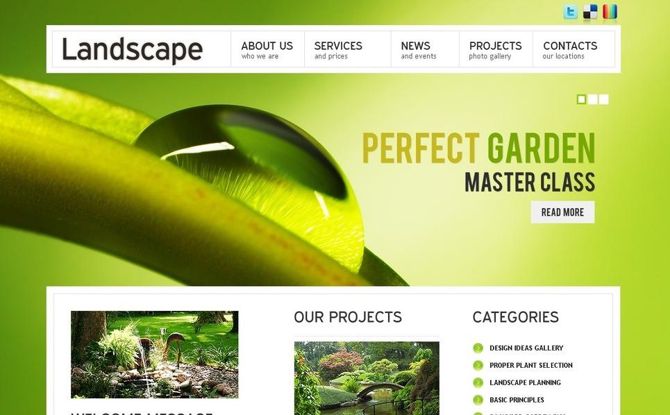 PSD шаблон №56610 на тему  ландшафтного дизайна New Screenshots BIG
