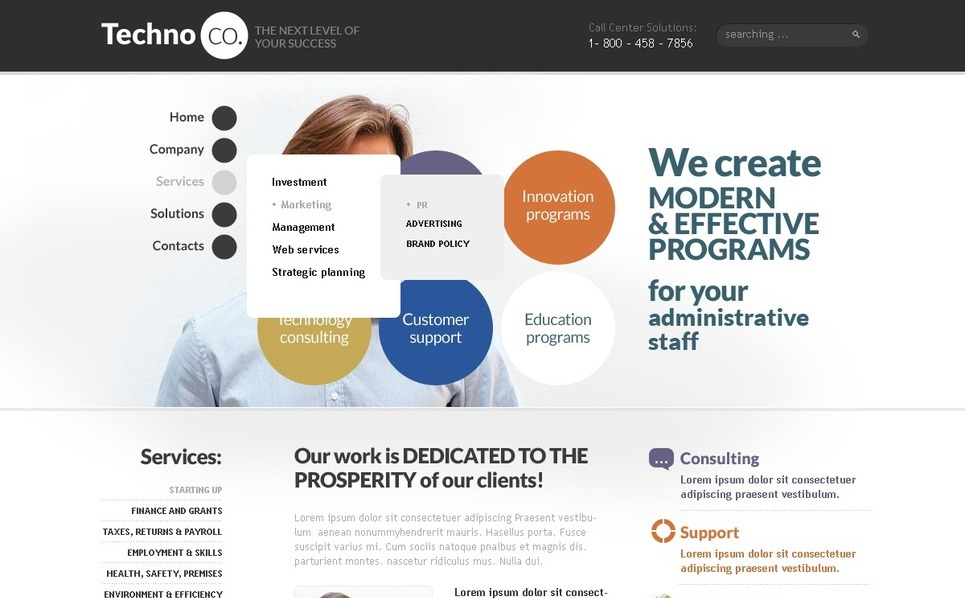 Szablon PSD #56615 na temat: usługi doradcze New Screenshots BIG