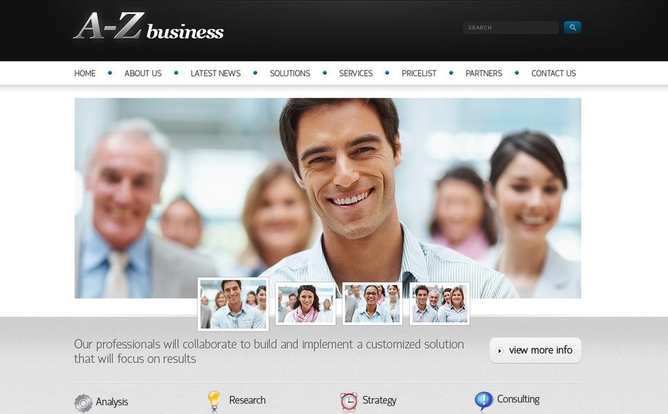 Plantilla PSD #56616 para Sitio de Negocio y Servicios New Screenshots BIG