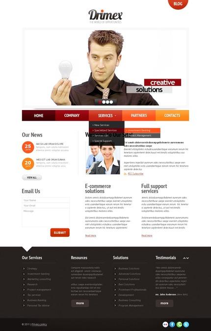 ADOBE Photoshop Template 56617 Home Page Screenshot