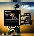 Music PSD  Template 56626