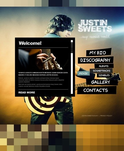 ADOBE Photoshop Template 56626 Home Page Screenshot