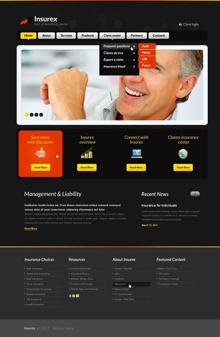 ADOBE Photoshop Template 56628 Home Page Screenshot