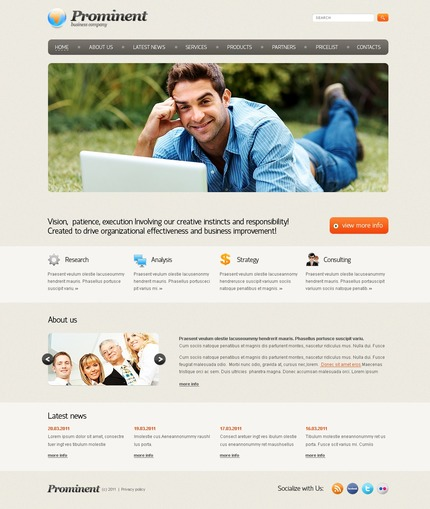 ADOBE Photoshop Template 56631 Home Page Screenshot