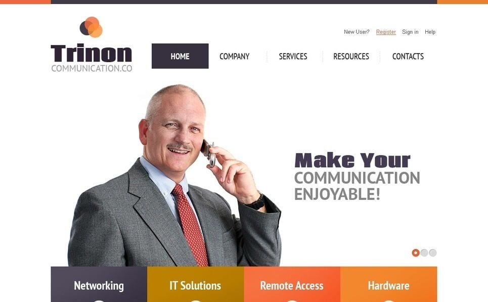 Template Photoshop  para Sites de Comunicações №56632 New Screenshots BIG