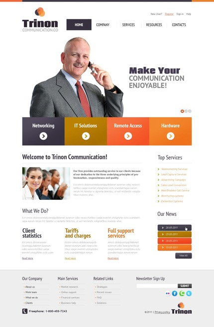 ADOBE Photoshop Template 56632 Home Page Screenshot