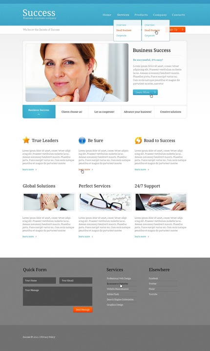 ADOBE Photoshop Template 56634 Home Page Screenshot