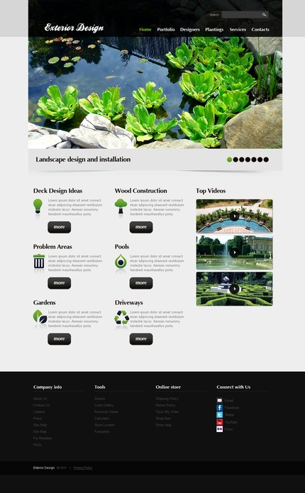 PSD макет сайта №56638
