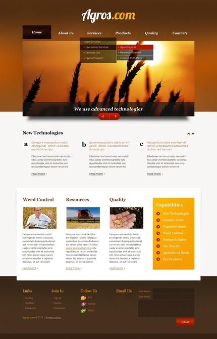 PSD макет сайта №56640