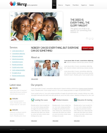 ADOBE Photoshop Template 56643 Home Page Screenshot