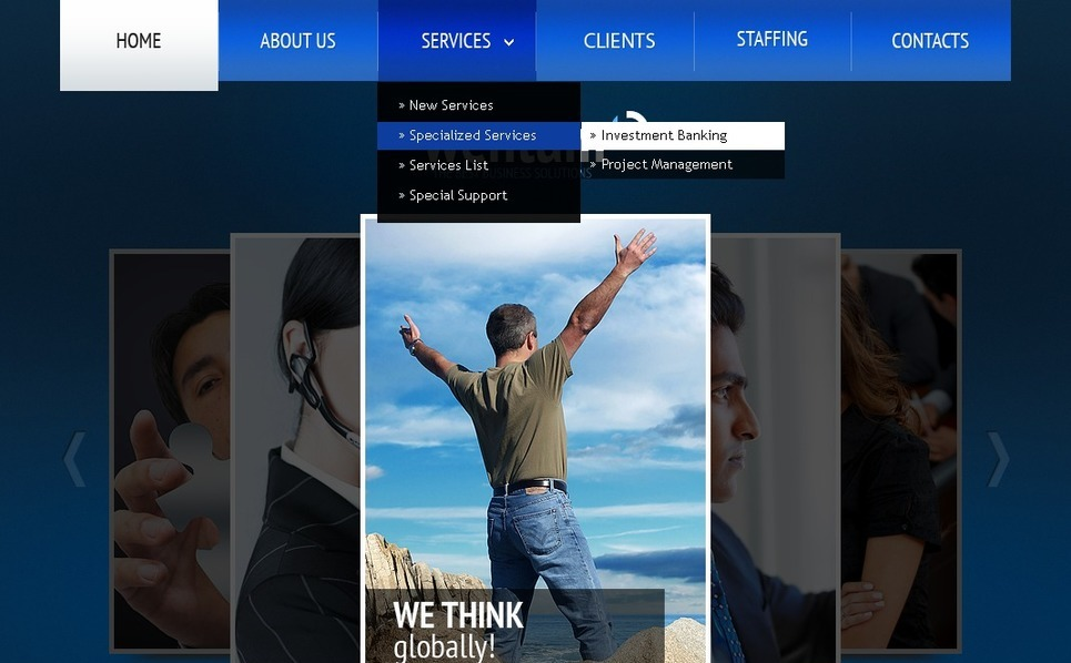 Szablon PSD #56645 na temat: biznes i usługi New Screenshots BIG