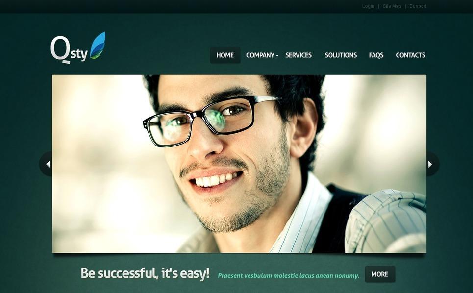 PSD шаблон на тему консалтинг New Screenshots BIG