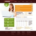 Web Hosting PSD  Template 56650