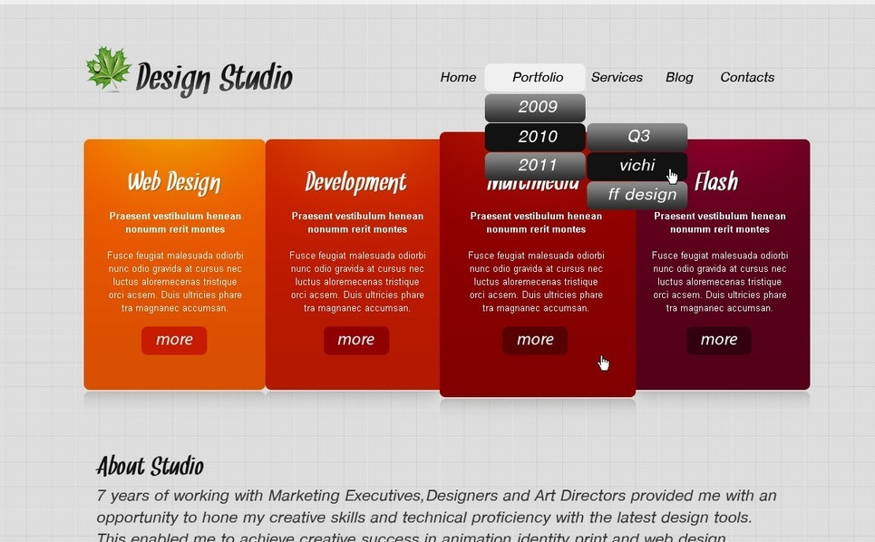 Design studiók  PSD sablon New Screenshots BIG