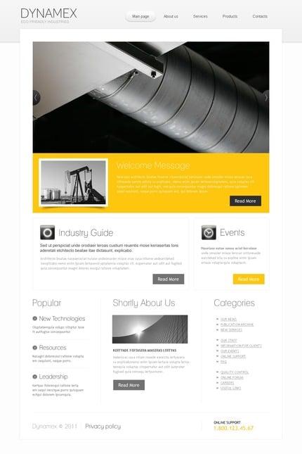 PSD макет сайта №56657