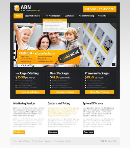 ADOBE Photoshop Template 56659 Home Page Screenshot