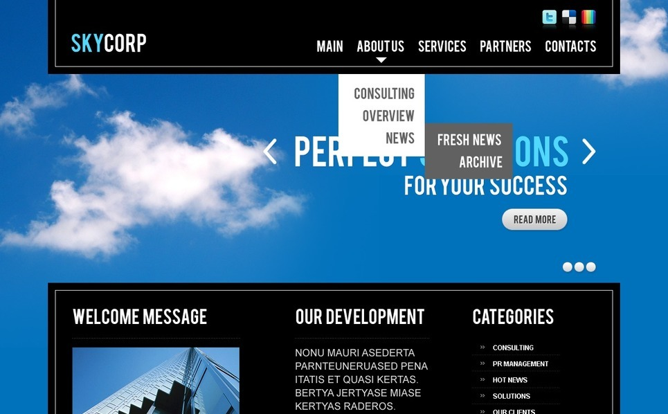 Tema PSD  #56667 per Un Sito di Business e Servizi New Screenshots BIG