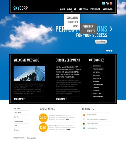 ADOBE Photoshop Template 56667 Home Page Screenshot