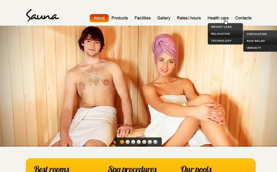 PSD Template over Sauna  New Screenshots BIG