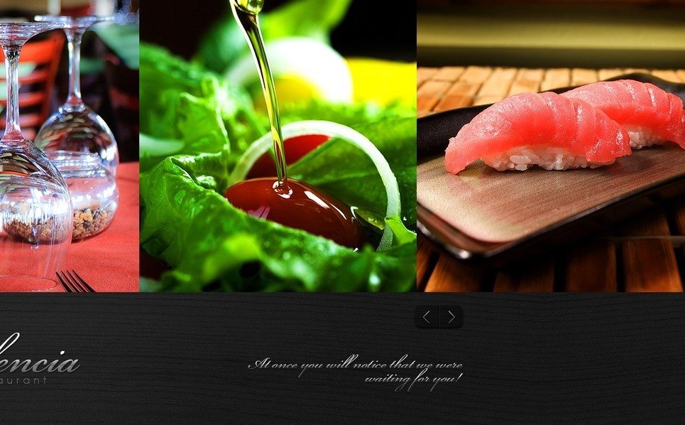 European Restaurant Templates Psd Şablon New Screenshots BIG