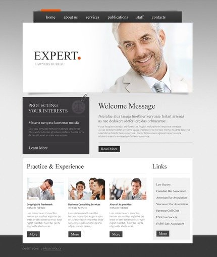 ADOBE Photoshop Template 56673 Home Page Screenshot