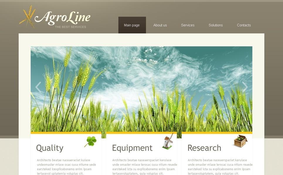 Plantilla PSD #56675 para Sitio de Agricultura New Screenshots BIG