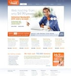 Web Hosting PSD  Template 56679