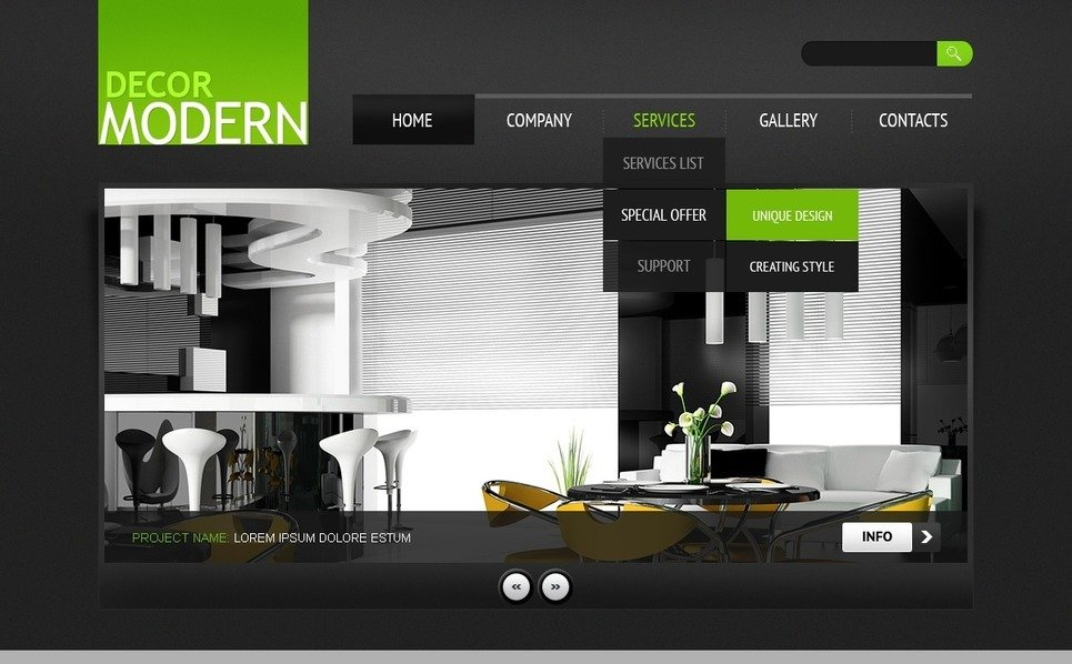 PSD Vorlage für Wohnung Decoration  New Screenshots BIG