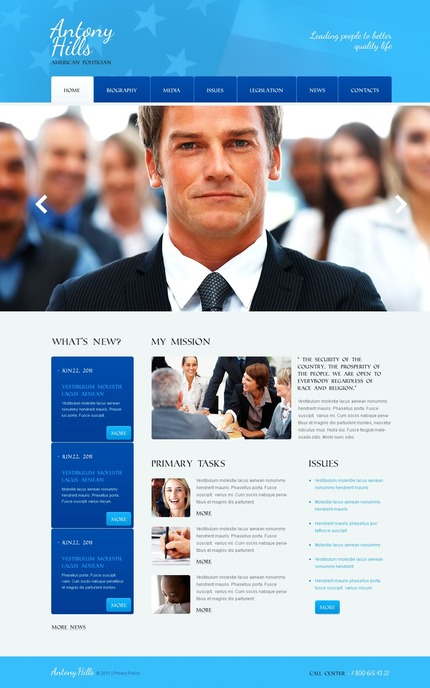 ADOBE Photoshop Template 56697 Home Page Screenshot