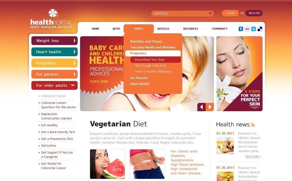 Modèle PSD  pour magasin de nutrition New Screenshots BIG