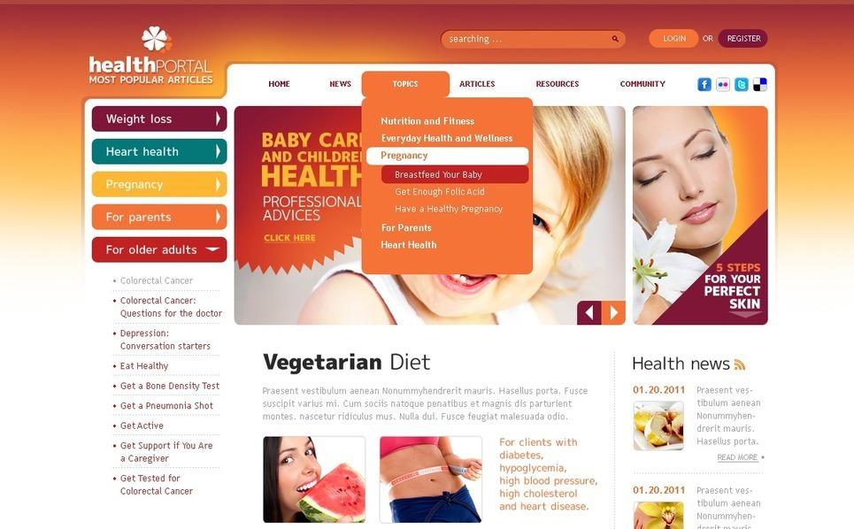 PSD Template over Nutrition  New Screenshots BIG