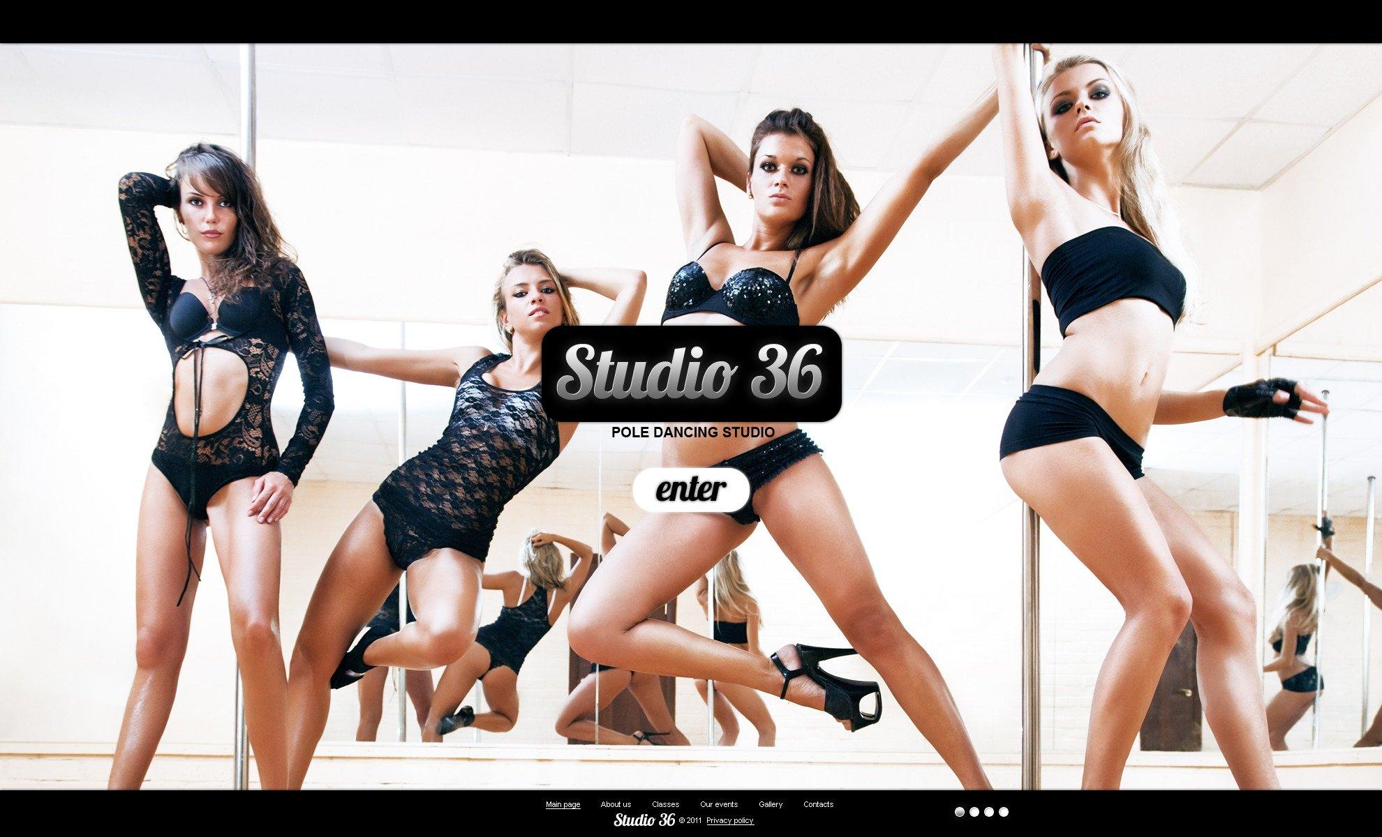 Dance Studio PSD Template