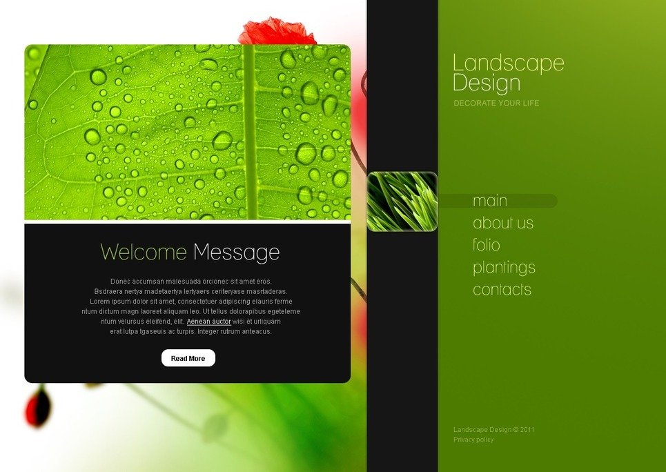 Landscape Design PSD Template New Screenshots BIG