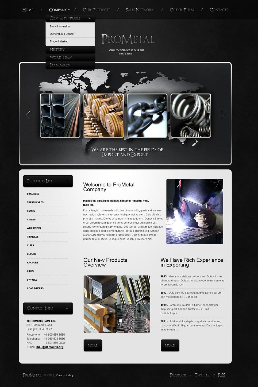 Mining Company PSD Template New Screenshots BIG