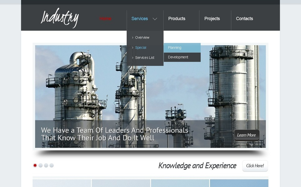 PSD Template over Industriele New Screenshots BIG