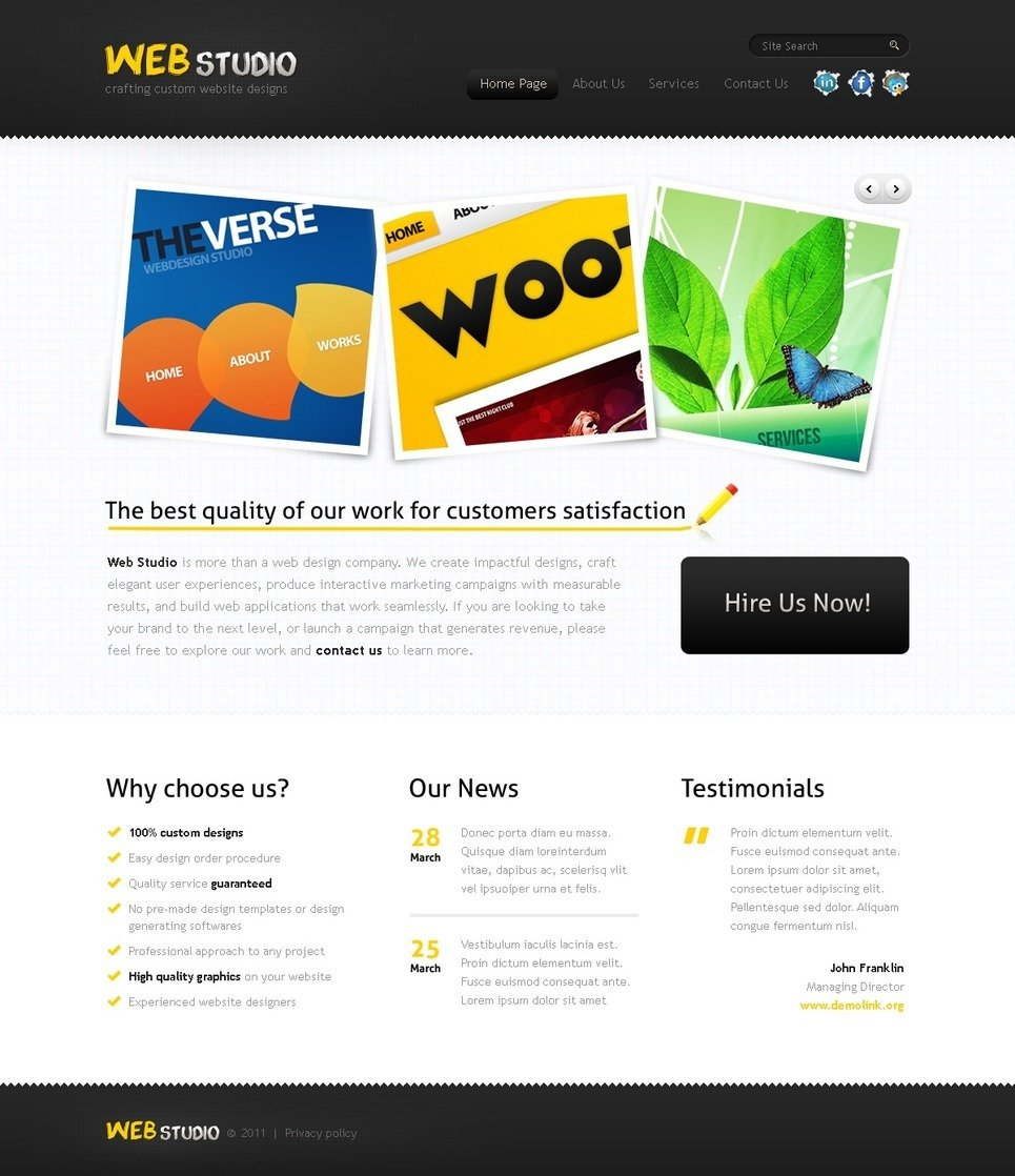 Web Design PSD Template New Screenshots BIG