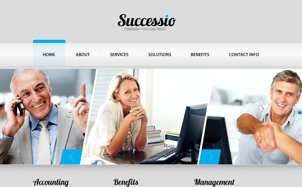 Template PSD  #56704 per Un Sito di Business e Servizi New Screenshots BIG